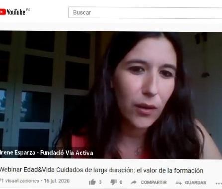 """JA PODEU VEURE EL VÍDEO DEL WEBINAR """"CUIDADOS DE LARGA DURACIÓN: EL VALOR DE LA FORMACIÓN"""""""